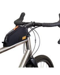 Bolt on top tube bag Black