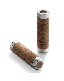 Plump Leather Grips - Antic Brown - 130+130mm