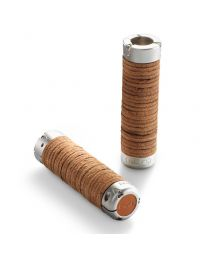 Plump Leather Grips - Honey - 130+130mm