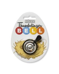 Nutcase Thumbdinger Bell Silver Bling on cardboard