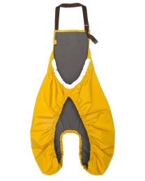 Rainette childseat apron w/ fleece - Yellow